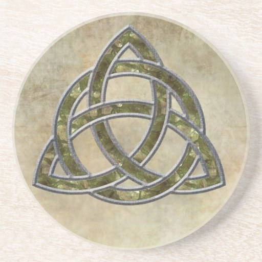 Triquetra Natural Drink Coaster
