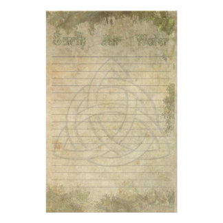Triquetra Natural, Earth Air Water Lined Stationery
