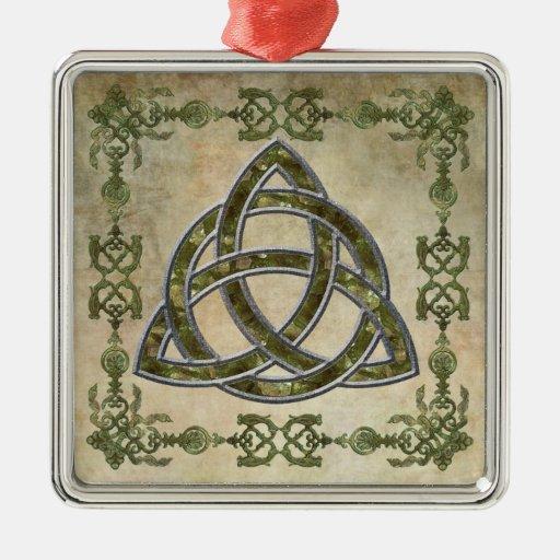 Triquetra natural ornaments para arbol de navidad