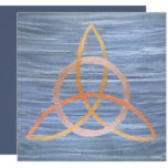 Triquetra Party | Blue Gold Celtic Trinity Knot Card