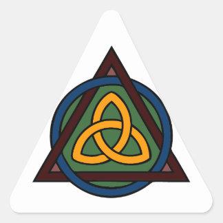 Triquetra Pegatina Triangular