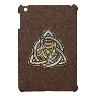 Triquetra Pentacle on Brown Cover For The iPad Mini