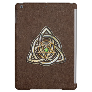 Triquetra Pentacle on Brown iPad Air Cover