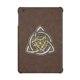 Triquetra Pentacle on Brown iPad Mini Case