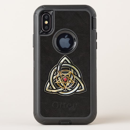 Triquetra Pentacle OtterBox Defender iPhone X Case