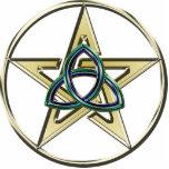 Triquetra Pentagram Keychain Cut Out