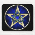 Triquetra Pentagram Mousepad