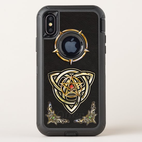 Triquetra Pentagram OtterBox Defender iPhone X Case