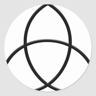 Triquetra-Protection Round Sticker