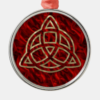 Triquetra Red Silk Ornaments