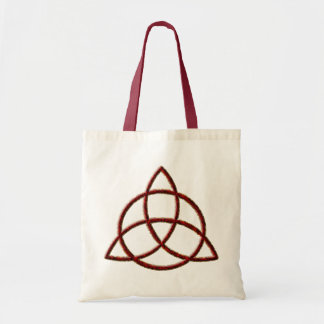Triquetra Red Silk Tote Bag