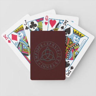 Triquetra Rune Shield Bicycle Playing Cards