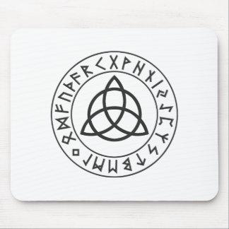 Triquetra Rune Shield Mouse Pad