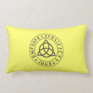 Triquetra Rune Shield Throw Pillows