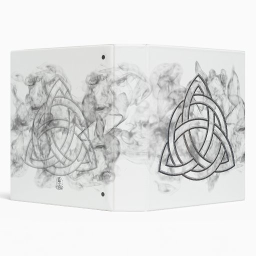 Triquetra Silver Bevel 3 Ring Binders