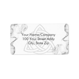 Triquetra Silver Bevel Address Label