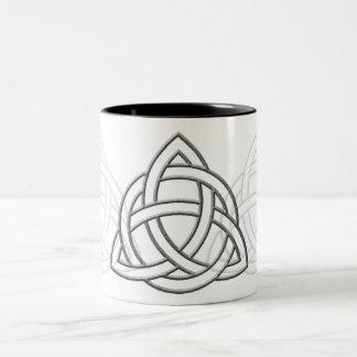 Triquetra Silver Bevel Two-Tone Coffee Mug