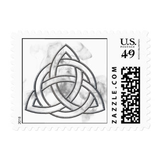 Triquetra Silver Bevel Stamp