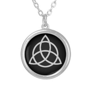 Triquetra Silver Plated Necklace