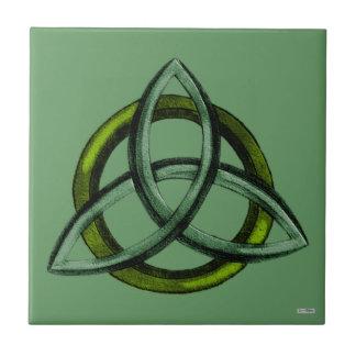 Triquetra (verde) tejas  cerámicas