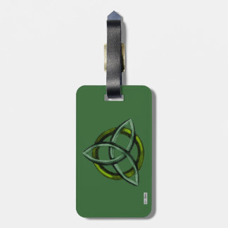 Triquetra (verde) etiqueta de equipaje