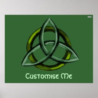 Triquetra (verde) poster