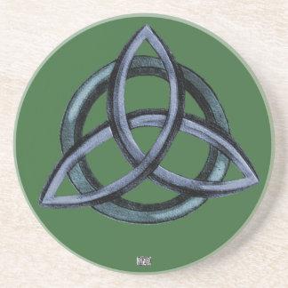 Triquetra (verde) posavasos para bebidas