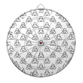 Triquetra Vesica Symbol Dartboard With Darts