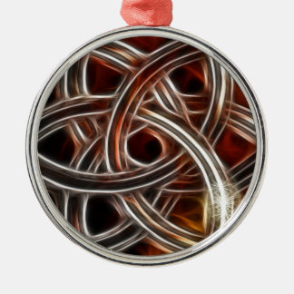 Triquetra with Star Effects Metal Ornament