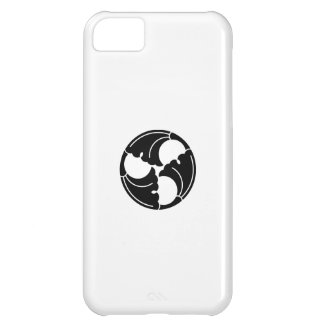 Trisected ginkgo leaves cover for iPhone 5C