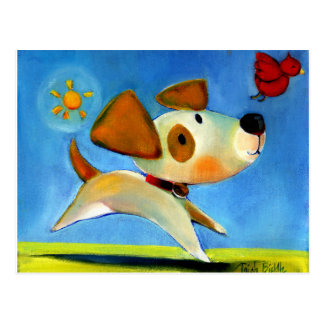 Trish Biddle Childrens Doggy 1 of 3 Postcard