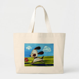 Trish Biddle Childrens Doggy 2 of 3 Large Tote Bag