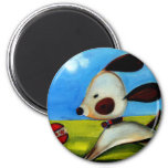 Trish Biddle Childrens Doggy 2 of 3 Refrigerator Magnets