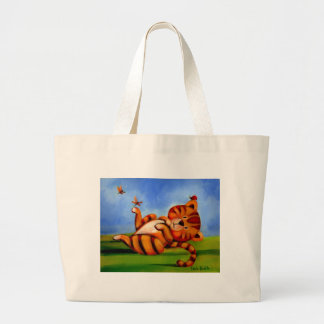 Trish Biddle Childrens Kitty 2 of 3 Large Tote Bag