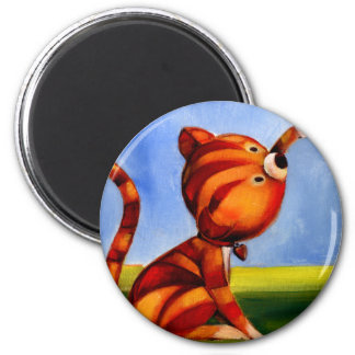 Trish Biddle Childrens Kitty 3 of 3 2 Inch Round Magnet