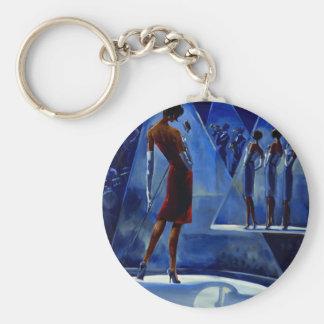 Trish Biddle Glammys Basic Round Button Keychain