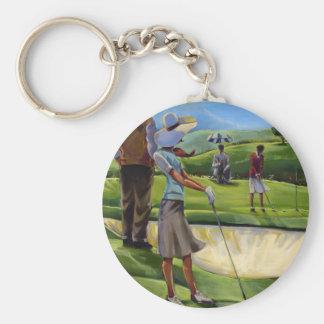Trish Biddle - golf de las señoras Llaveros Personalizados