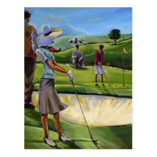 Trish Biddle - Ladies Golf Postcard