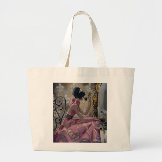 Trish Biddle Powder Pink Vanity Large Tote Bag