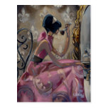 Trish Biddle Powder Pink Vanity Postcard