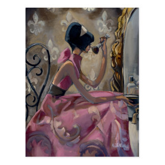 Trish Biddle Powder Pink Vanity Postcard