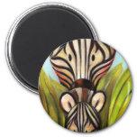Trish Biddle Safari  Zebra Fridge Magnets