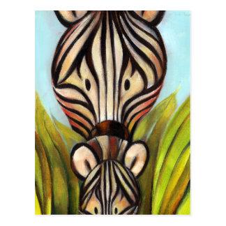 Trish Biddle Safari  Zebra Postcard