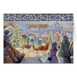 Trish Biddle Santa's Villiage Greeting Cards