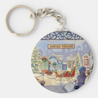 Trish Biddle Santa's Villiage Keychain