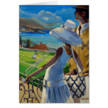 Trish Biddle - Tennis on the Riviera Card