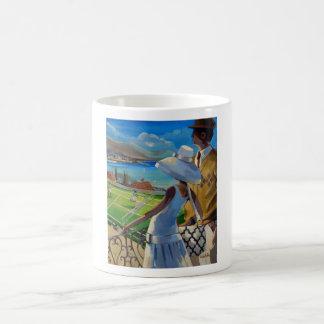 Trish Biddle - Tennis on the Riviera Coffee Mugs