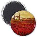 Trish Biddle Tuscany Series 2 Inch Round Magnet