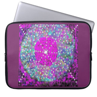 Trisha Blue Water Bursting Laptop Sleeve