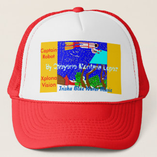 Trisha Blue Water CL Captain Robot Xplona Vision Trucker Hat